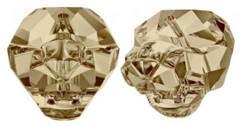 1 Swarovski Panther Bead, Style 5751, 14mm, Golden Shadow - CLEARANCE PRICE